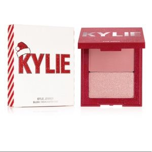 SALE kylie cosmetics holiday blush/highlight duo